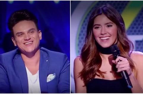 Silvestre Dangond y Paulina Vega en 'A otro nivel'. Pulzo.