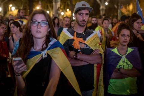 Catalanes a la espera de la independencia