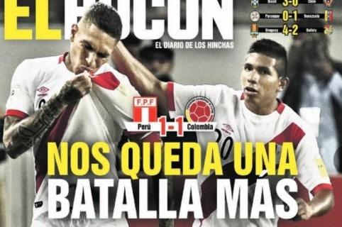 Portadas De Prensa Peruana Celebran Paso A Repechaje Pero No Cantan