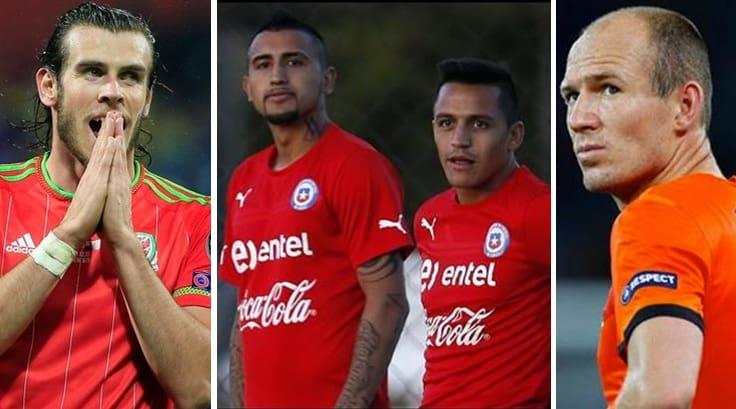 Bale, Vidal, Sánchez y Robben.