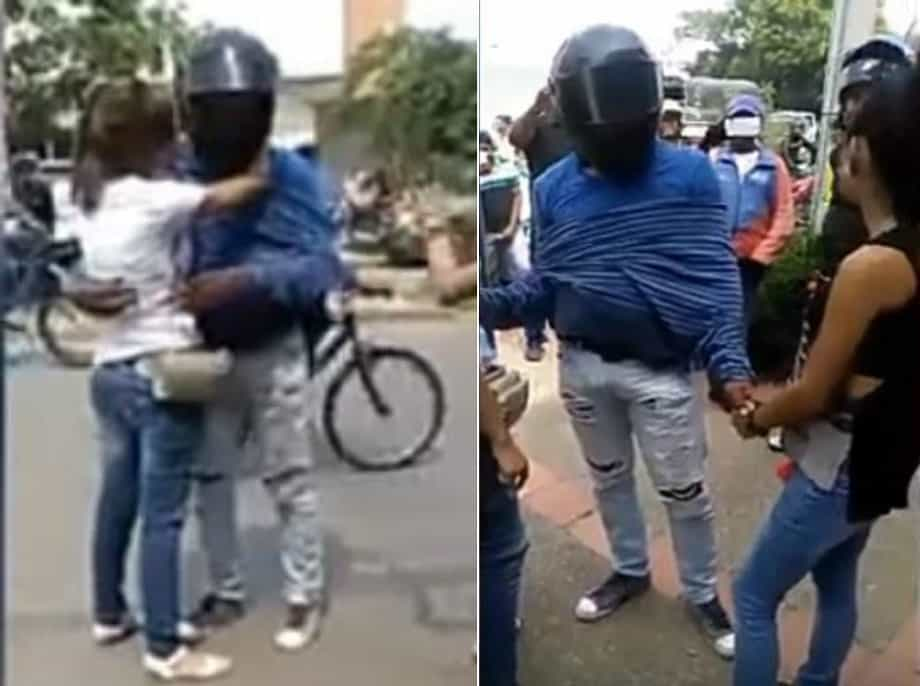 Pelea de mujeres por mototaxista
