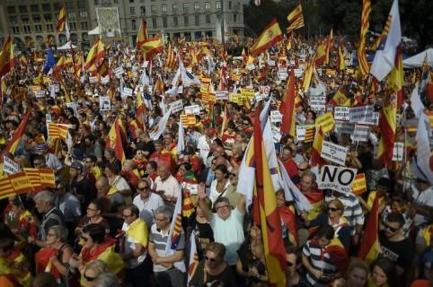 Marcha contra independencia de Cataluña. Pulzo.