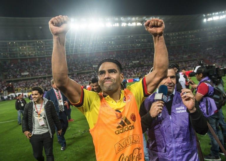 Falcao celebra clasificación de Colombia al Mundial Rusia 2018. Pulzo.