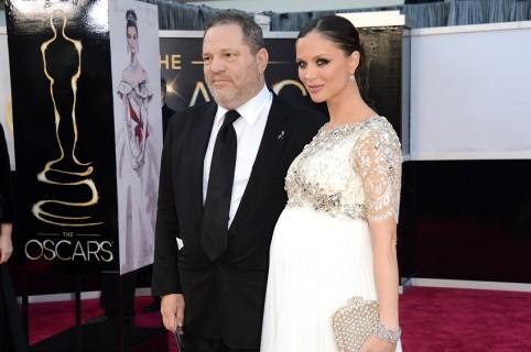 Harvey Weinstein y su esposa en 2013