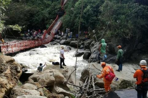 Colapso de puente en Inzá