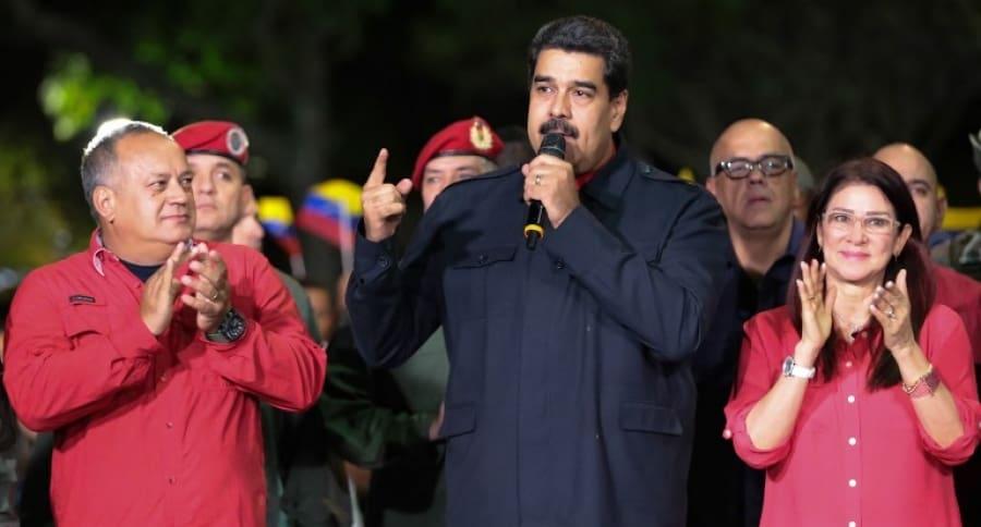 Nicolas Maduro, Cilia Flores y Diosdado Cabello