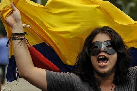 Protesta contra la corrupción en Colombia