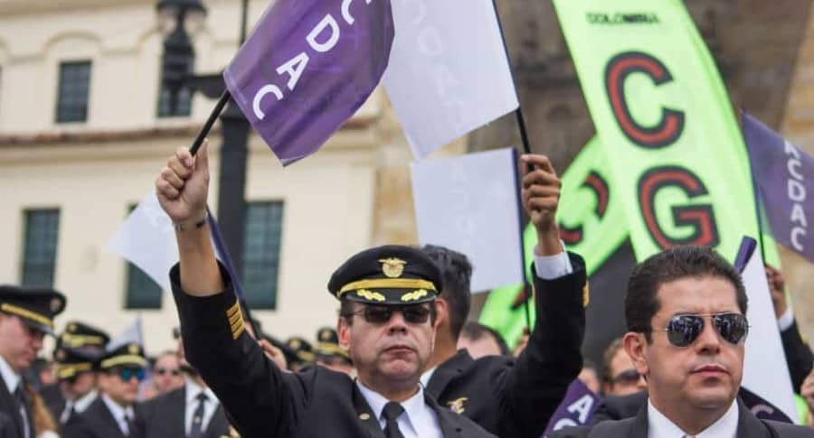 Protesta de pilotos de Acdac