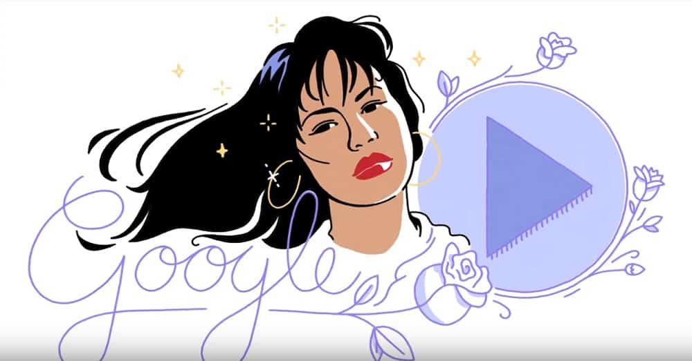 Doodle de Google de cantante Selena Quintanilla