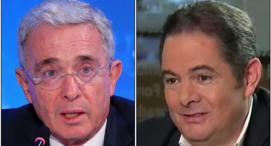 Álvaro Uribe y Germán Vargas Lleras