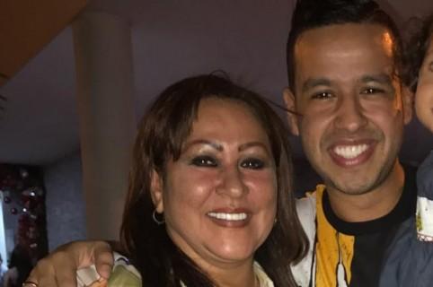 Patricia Acosta y su hijo, el cantante Martín Elías (Q.E.P.D.)