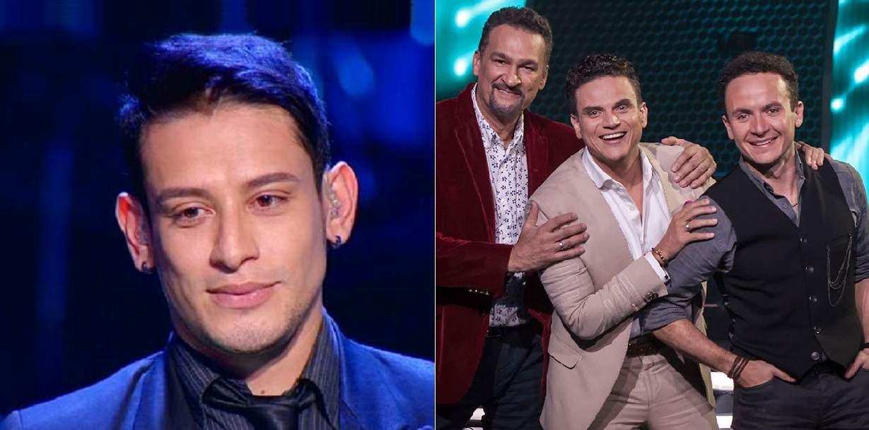 Luis Carlos Luque, eliminado de 'A otro nivel'; y Kike Santander, Silvestre Dangond y Fonseca, jurados del programa.