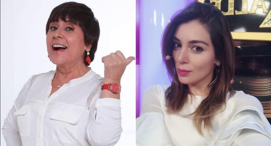 Graciela Torres, 'La negra candela', y Marilyn Patiño, actriz.