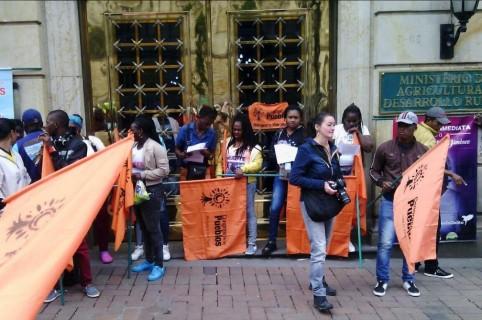 Protestas en el Ministerio de Agricultura