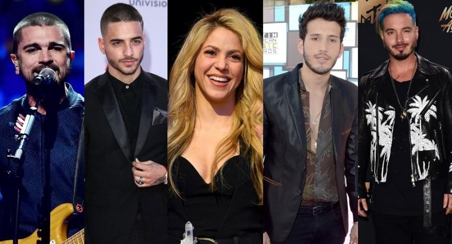 Juanes, Maluma, Shakira, Sebastián Yatra y J Balvin - Pulzo.com