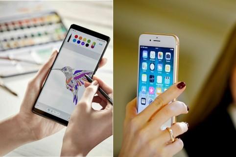 Note 8 y iPhone 8