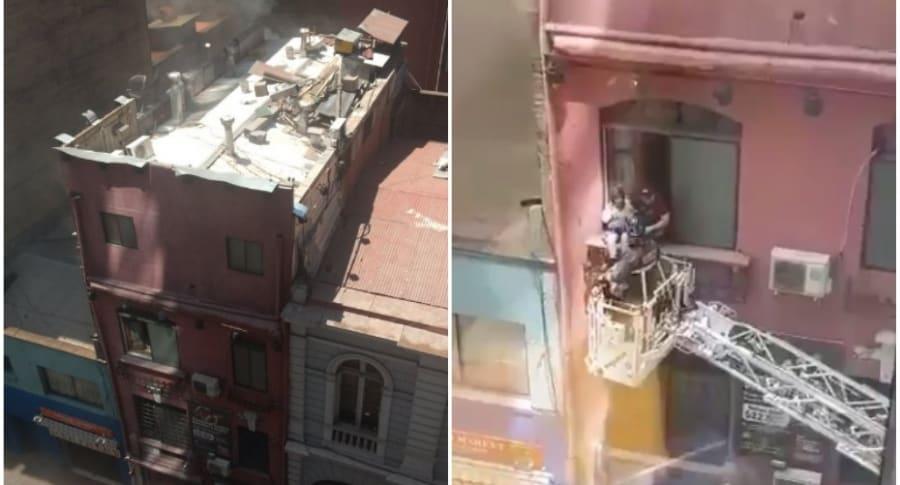 Pareja evacuada de motel en Chile.