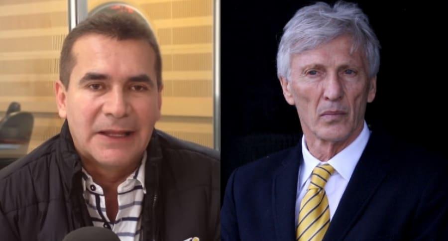 Diego Rueda y José Pékerman