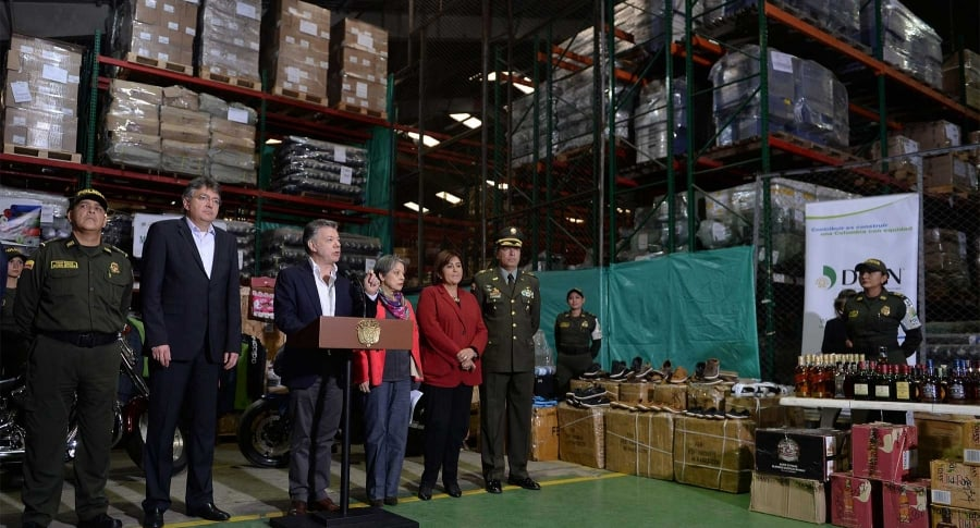Presidente Juan Manuel Santos presenta la operación 'Hong Kong'