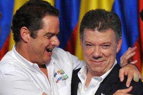 Germán Vargas Lleras y Juan Manuel Santos