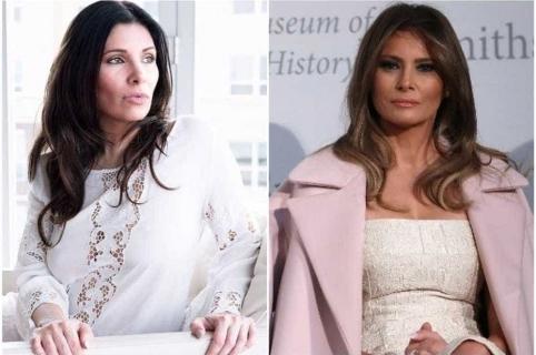 Mujer que quiere parecerse a Melania Trump.