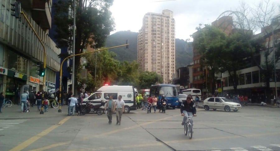 Fleteo en sucursal bancaria del centro de Bogotá