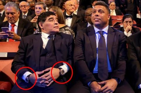 Maradona y sus relojes
