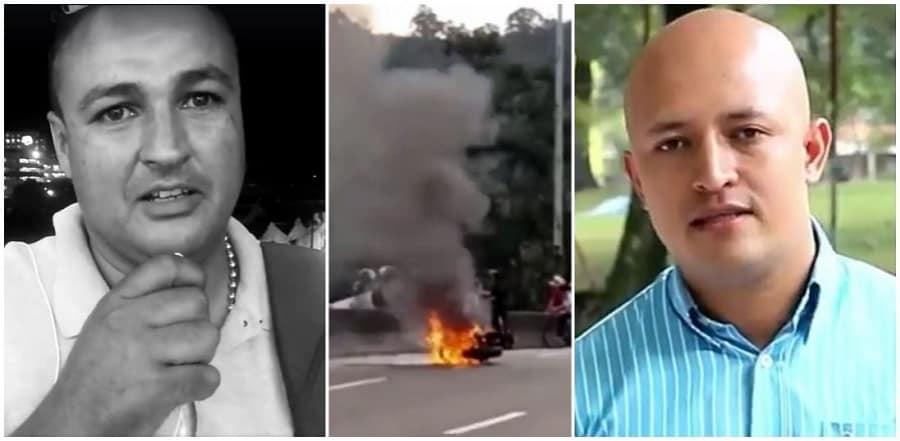 Afectado, moto incinerada, líder estudiantil