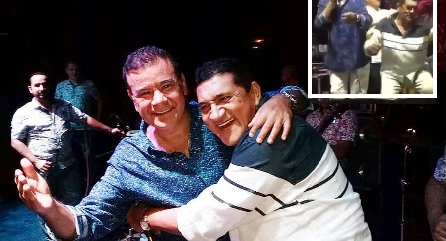 Poncho Zuleta e Iván Villazón, cantantes.