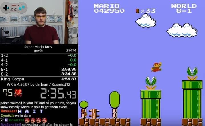 Record mundial de Super Mario Bros