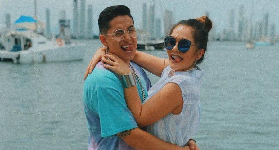 Andy Rivera, cantante, y su novia Lina Tejeiro, actriz.