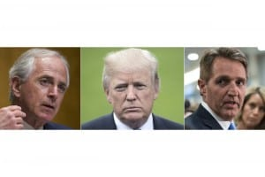Corke, Trump y Flake