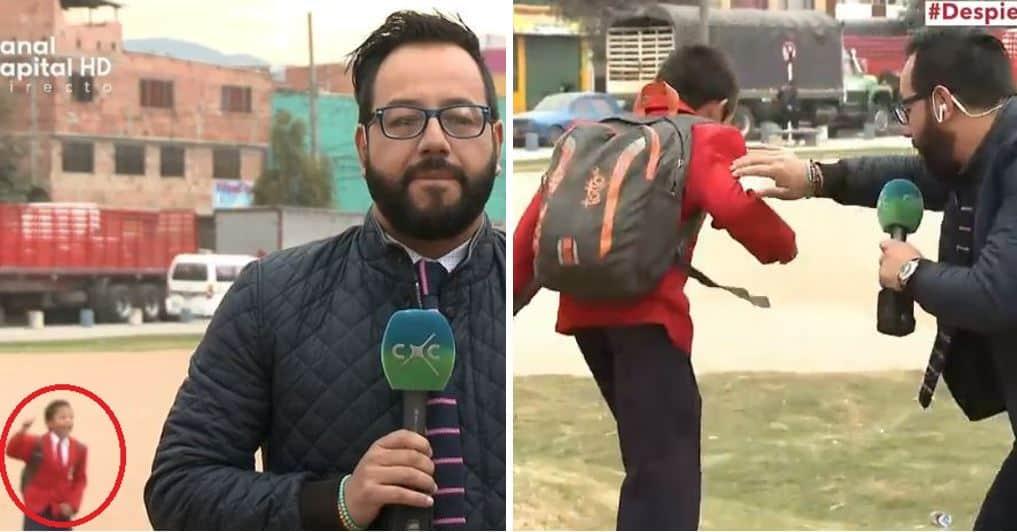 Daniel Santiago Diosa, niño que abandonó entrevista en vivo de Canal Capital