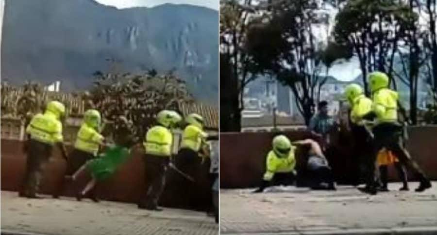 Agresión de Policía a indígenas