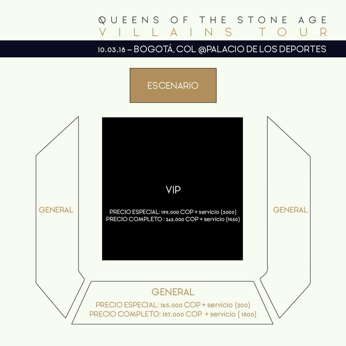 Plano concierto Queens of the Stone Age