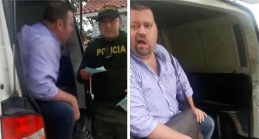 Policía fue agredido por atrevido ciudadano y quedó grabado