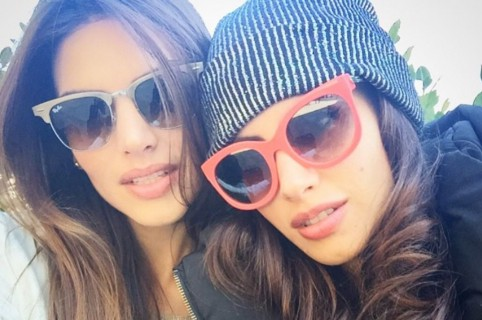Jessica Cediel y su hermana Melissa.