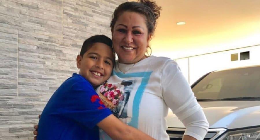 Patricia Acosta y el hijo de Martín Elías