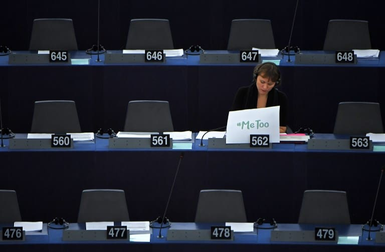 Eurodiputada Linnéa Engström en debate sobre acoso sexual. Pulzo