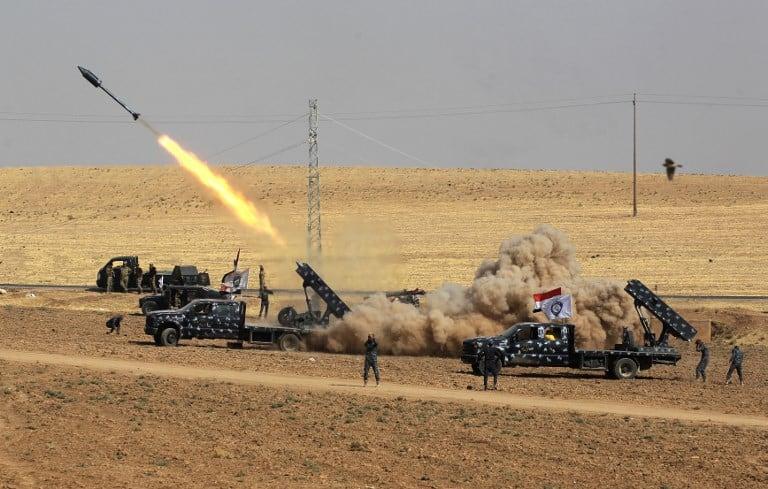 Combate entre iraquíes y kurdos. Pulzo.