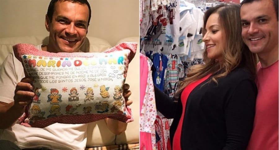Juan Diego Alvira, presentador de Noticias Caracol, y su esposa Ana María Escobar.