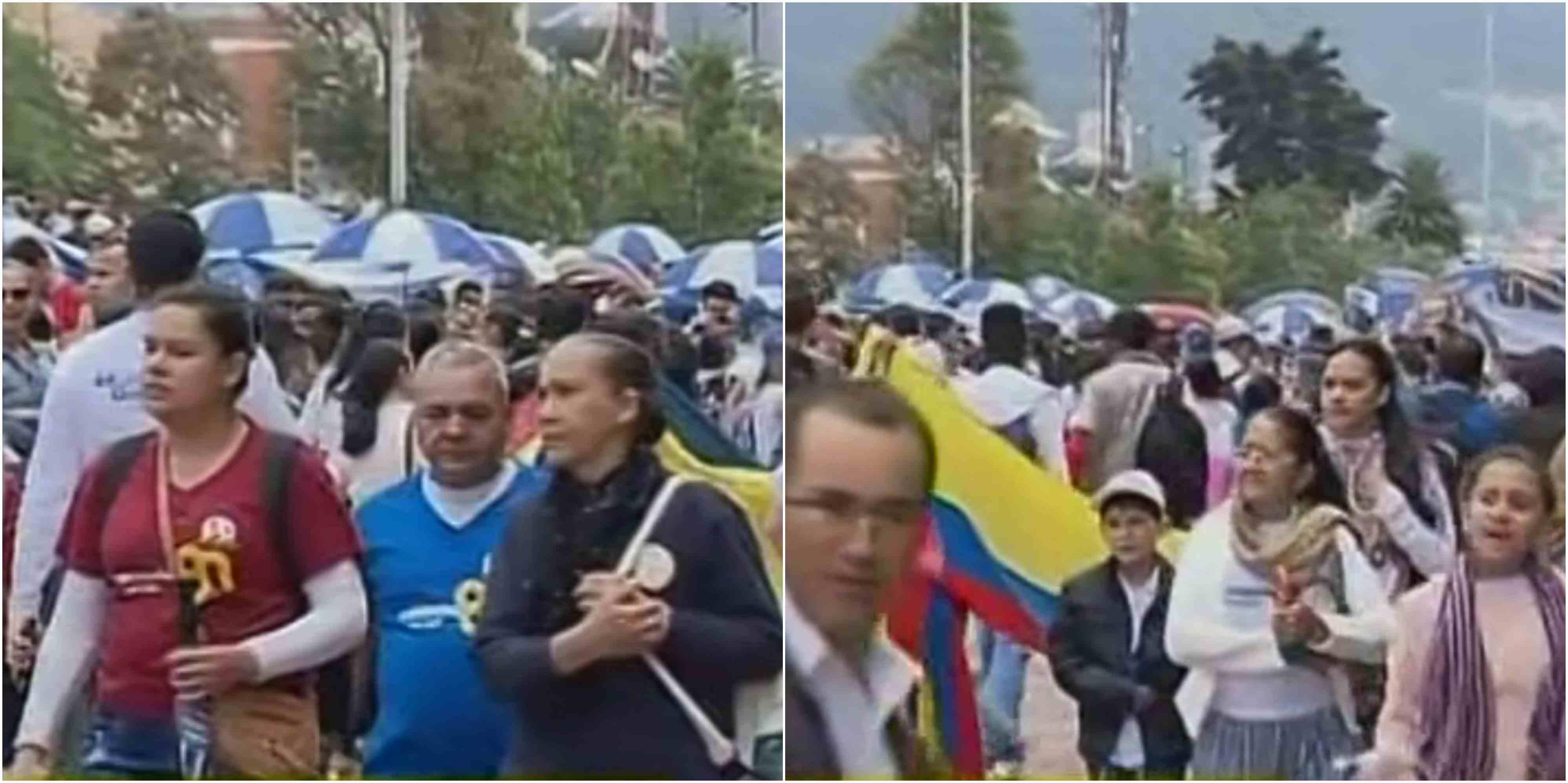 Cierres por marcha de cristianos Iglesia Pentecostal Unida de Colombia en Bogotá