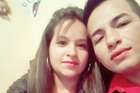 Darlin Estefany Montero (víctima fatal) y su esposo Ronier Alexis Pabón Albán (agresor)