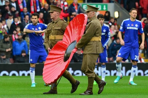 Chelsea en el Poppy's Day 2014