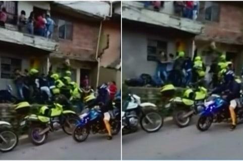 Asonada contra la Policía de Tránsito en Medellín. Pulzo.