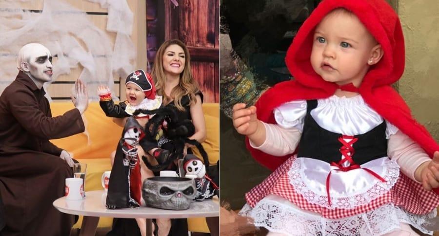 Disfraces de Dante, hijo de Ana Karina Soto, y Helena, hija de Laura Acuña.