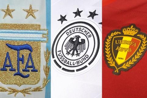 Argentina, Alemania y Bélgica