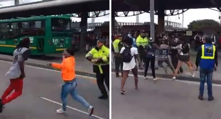 Agresión de colados a policías