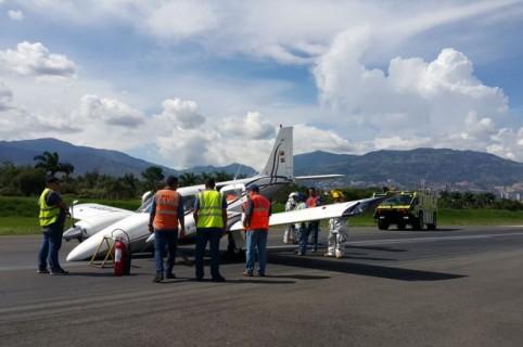 Avioneta Piper 34 Séneca II que sufrió la emergencia