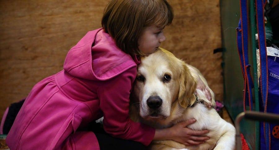 Niña y su perro. Pulzo.